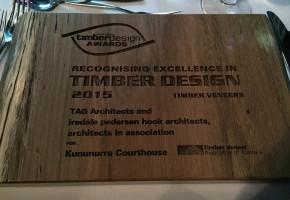 Timber Design Awards - Plaque