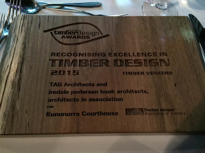 Timber Design Awards - Plaque